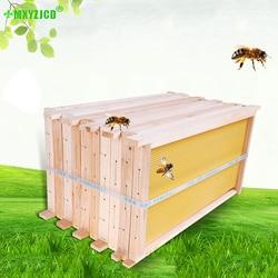 5 Pcs Lebah Selesai Nest Box Berkualitas Tinggi untuk Membuat Sarang Frame Pemelihara Lebah Peralatan Perlengkapan Taman Perlebahan Alat