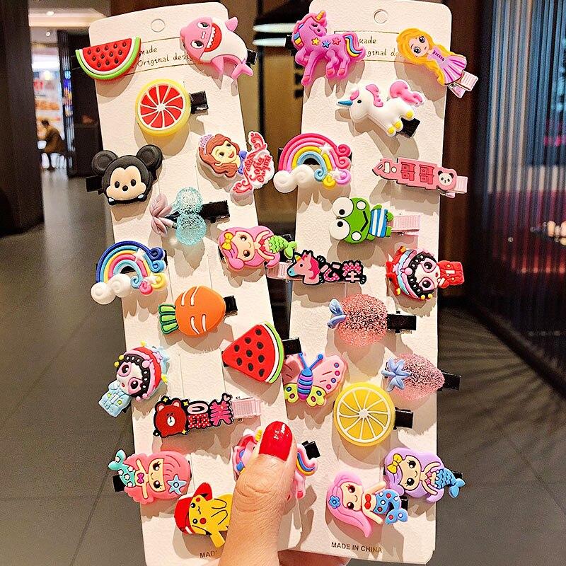 Headband Fashion Hair-Accessories Barrettes Ice-Cream Fruits Girls Cartoon Cute Sweet