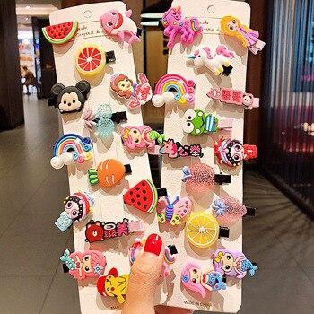 10PCS/Set New Girls Cute Cartoon Ice Cream Fruits Hairpins Children Sweet Barrettes Hair Clips Headband Fashion Hair Accessories