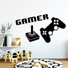 купить Creative  Gamer Vinyl Wall Sticker For Kids Baby's Rooms Decals Wall Stickers Waterproof Wallpaper naklejki дешево