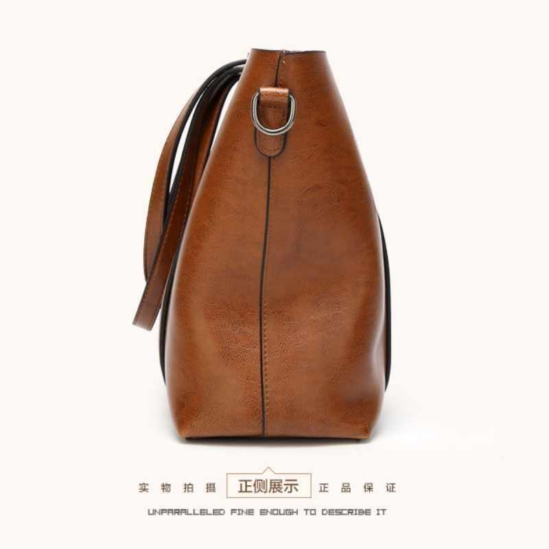 100% Hakiki deri Kadın çanta 2019 Yeni Klasik rüzgar taşınabilir büyük çanta omuzdan askili çanta mizaç kadın tote çanta