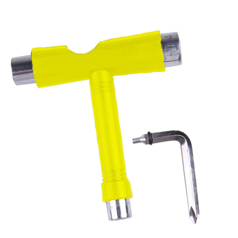 Roller Skate Skate Scooter Skateboard Tools Mini Kick T Type Wrench Tools Accessories FO Sale
