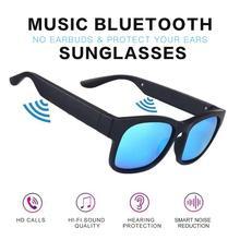 Smart bluetooth Glasses Bone Conduction Bluetooth Sport Headphone Sunglasses Driving goggles Audio Headset glass