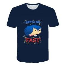 Sonic T-Shirt Costume Tee-Tops Kids Clothes Printed Girls Summer Boys Children Cartoon
