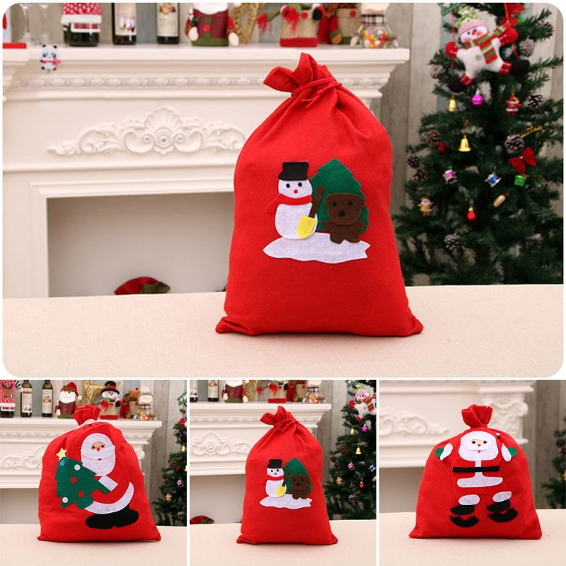 Christmas Gift Candy Storage Bag Xmas Decoration Present Organizer C90E