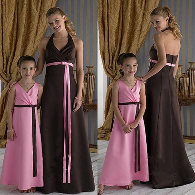 Vestidos Para Festa 2015 Criss Cross Sash Simple Formal Free Shipping New Design Custom V-neck A-Line Long Bridesmaid Dresses