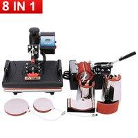Promoções 30*38 cm 8 em 1 máquina de transferência térmica da impressora 2d da sublimação da máquina da imprensa térmica combo para a caneca/tampão/tshirts/casos do telefone|thermal transfer printer|thermal printer|printer thermal -