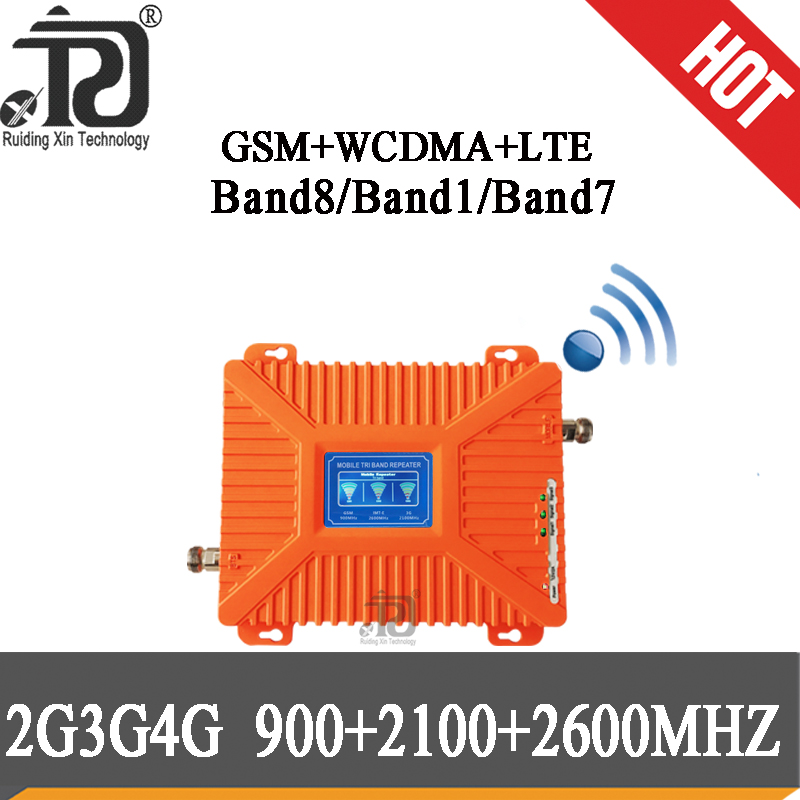 2G 3G 4G 900 2100 2600 Cell Phone Booster GSM WCDMA FDD LTE Signal Repeater