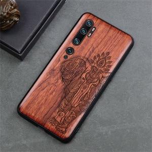 Image 4 - Phone Case For Xiaomi Mi Note 10 Pro Original Boogic Wood TPU Case For Xiaomi Mi Note10 Note 10 Pro Phone Accessories