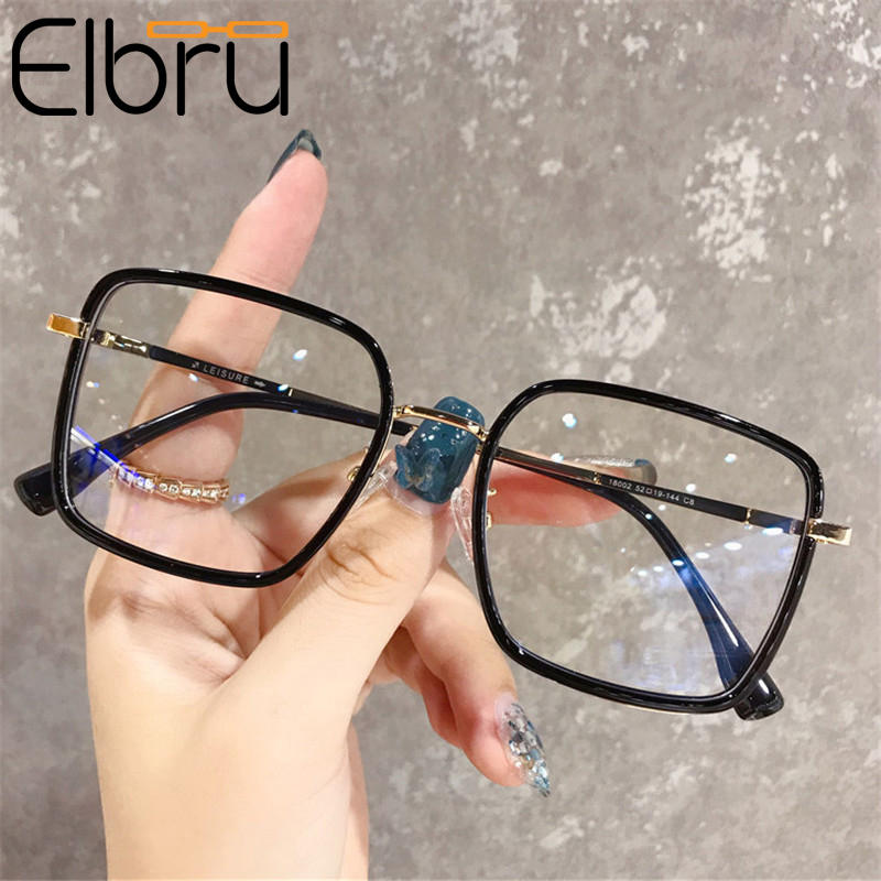 Glasses Frame Light Computer Square Oversized Anti-Blue Women