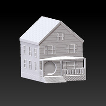 3D Model For CNC 3D Belakang Patung Patung Mesin STL Format File Villa Rumah(China)