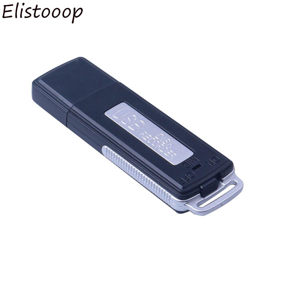 2 in 1 Mini 8GB USB kalem Flash sürücü Disk dijital ses kaydedici 70 saat taşınabilir Mini kayıt kulaklık