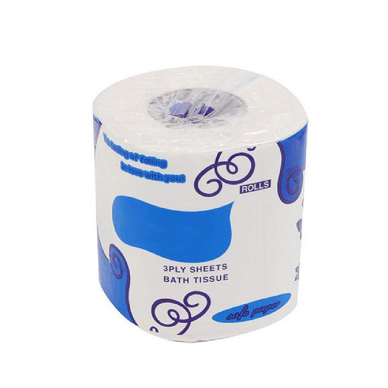 Individual Package Toilet Paper Premium 3 Layers Roll Paper Bathroom Toilet Tissue Kitchen Cleaning Paper Wood Pulp Paper