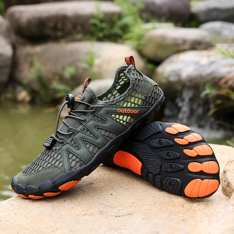 Men Water Shoes Aqua Beach Shoes For Women Upstream Breathable Hiking Sport Shoes Outdoor Non-slip Quick Dry River Sea Sneakers