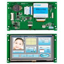 Module daffichage à cristaux liquides intelligent TFT de 5 pouces HMI avec contrôleur + programme + tactile + STVC050WT 01 dinterface série UART