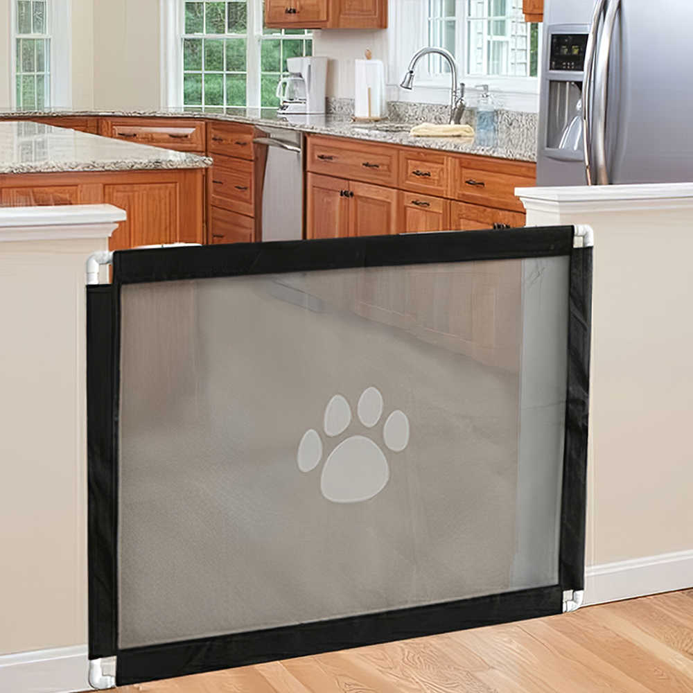 180x72cm Nifogo Pet Safety Gate Magic Gate for Dog Portable Mesh Guard Enclosure safety fence for dogs use for Doorways Stairways and Hallways