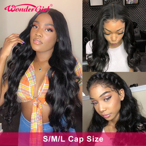 Wonder girl Body Wave wig 13X6 Lace Front Wig Small/Medium/Large Cap Size Lace Front Human Hair Wigs Remy Brazilian Hair Wigs