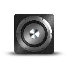 Reine Bass Lautsprecher 6,5 Zoll 100W Große Power Subwoofer Heimkino Louderspeaker Für Computer TV Musik Player Holz Schwarz lautsprecher