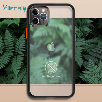 Xilecaly, funda protectora antigolpes para iPhone 11 Pro 7 8 Plus XR XS Max, fundas de teléfono de silicona transparente, carcasa trasera dura mate, Capa