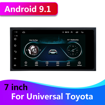 7 Inch Android 9.1 Auto Radio Stereo 2 din Car Multimedia MP5 Player GPS for Toyota Camry Vios Corolla Land Cruiser HILUX PRADO image