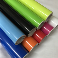 Pegatina de vinilo brillante luminoso para coche, calcomanía de 10/20/30/40/50x152CM, color negro, blanco, rojo, azul, amarillo, verde brillante, calcomanía de motocicleta y coche