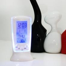 Digital Calendar Frozen Clock Alarm Temperature-Display Led-Night-Light Lcd-Time-Date