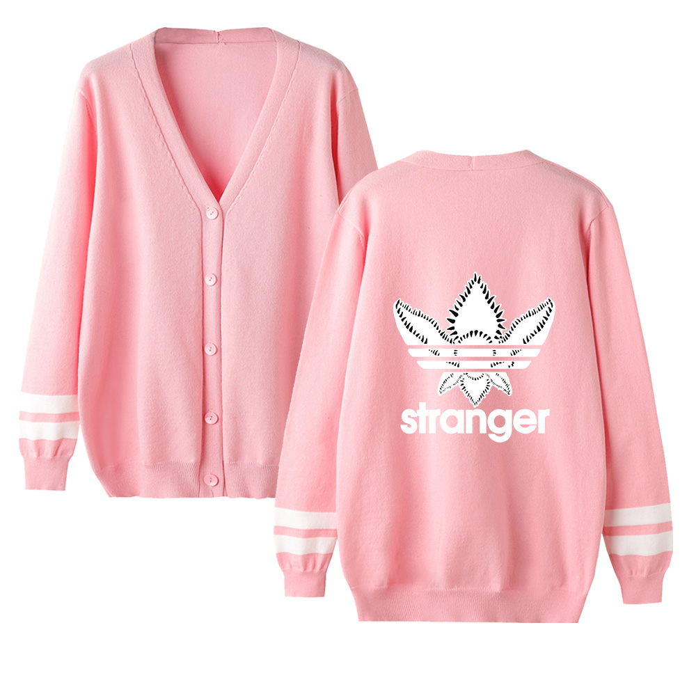 Stranger Things Sweater Men Women Autumn Streetwear Sweater Fashion V-neck Long Sleeve Sweater Knitting Cardigan Female Sweater