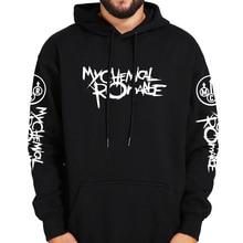 Meu romance químico hoodies preto desfile punk emo rock moletom com capuz moda outono inverno casaco