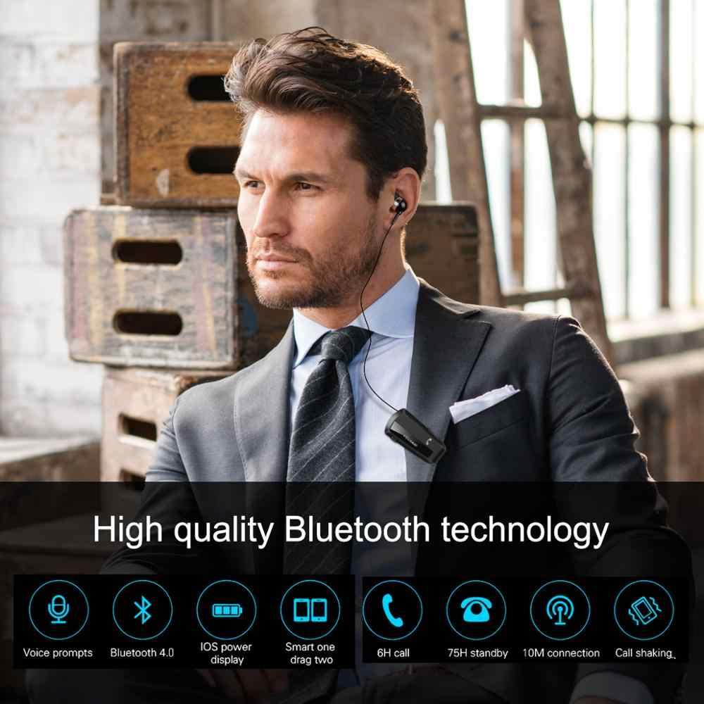 Fineblue F990 новейшая беспроводная бизнес Bluetooth гарнитура спортивный драйвер наушники Телескопический зажим на стерео наушник вибрации класса люкс