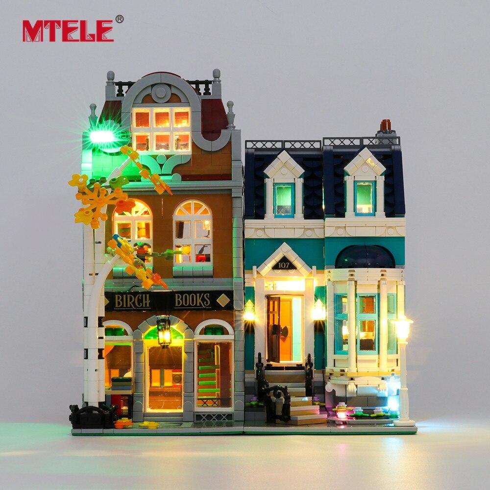 MTELE Brand LED Light Up Kit For 10270 Creator Bookshop Toys Building Blocks Model
