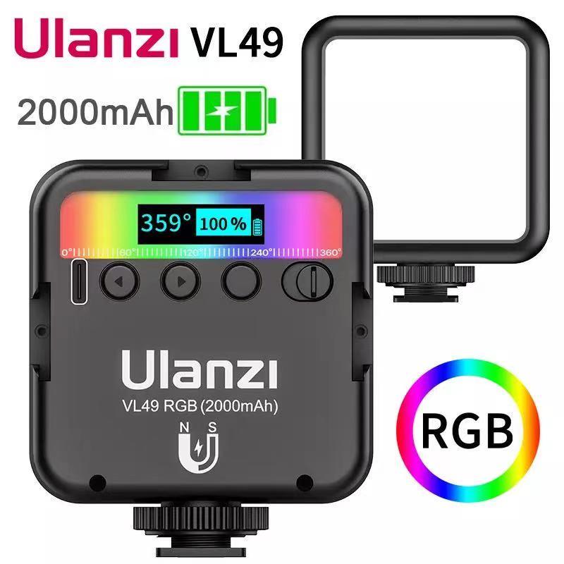 Ulanzi VL49 мини RGB видео светильник ing для фотографии 2000 мА/ч, RGB светодиодный видео Камера светильник Vlog заполнить светильник в прямом эфире