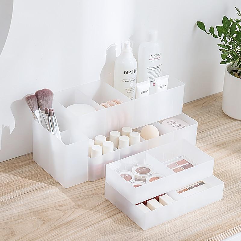 Adjustable Makeup Drawer Storage Box Makeup Organizer Cosmetic Storage Box Jewelry Nail Polish Organizer Makeup Box Container
