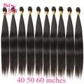 Halo Lady Beauty 34 36 38 40 50 60 дюймов, Длинные бразильские прямые волосы, пряди для наращивания, оптовая продажа, не Реми