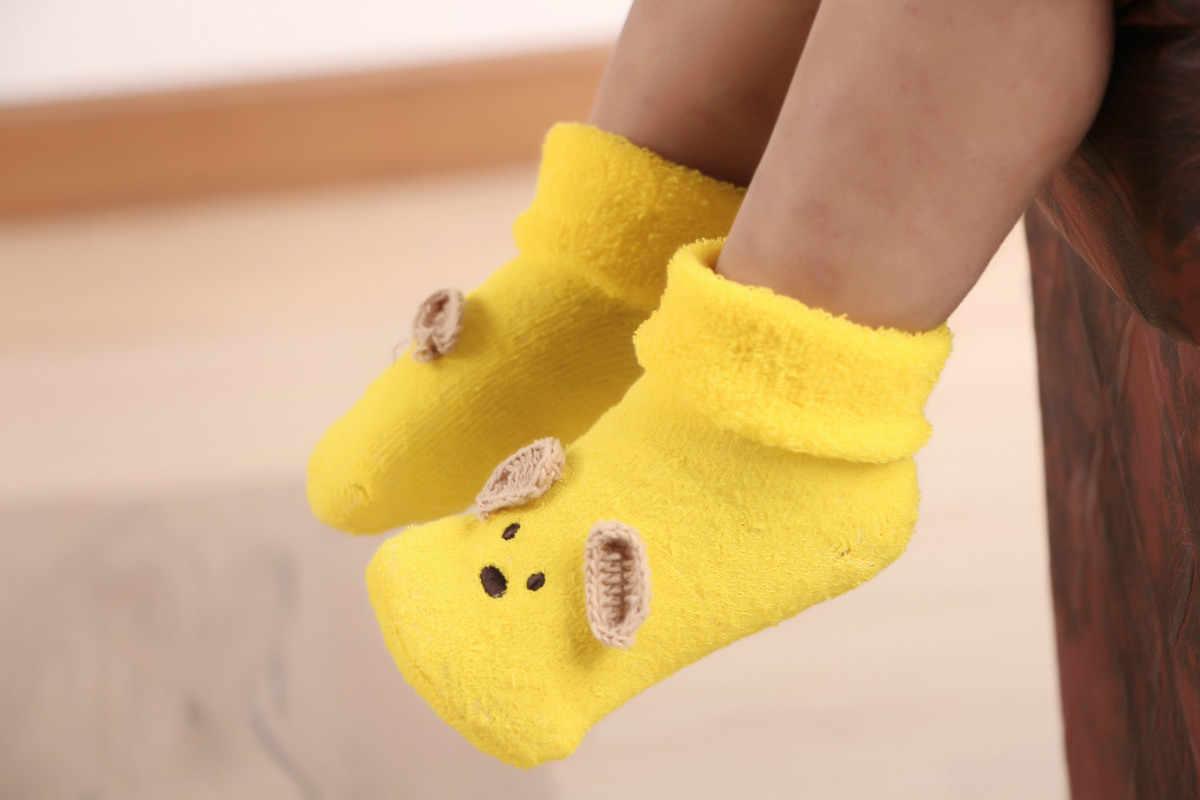 Calcetines lindos de algodón para bebés recién nacidos, calcetines cálidos de dibujos animados para bebés y niñas, Calcetines antideslizantes para niños, Calcetines antideslizantes para niños, bebés, sokken