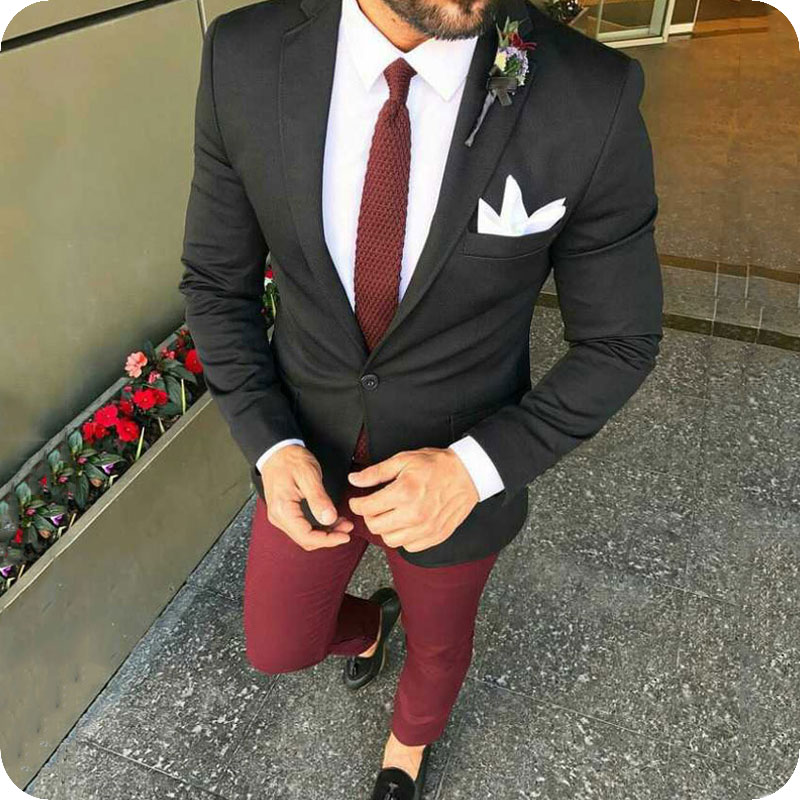 Classic Black Suits Men 2019 Groom Tuxedo For Wedding Business Man Outfit Man Blazer Costume Homme Slim Terno Masculino 2Piece