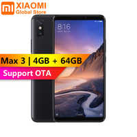 Xiao mi mi Max 3 4GB 64GB Snapdragon 636 Octa Core grand écran 5500mAh facile à utiliser à une main téléphone Mobile intelligent Max3