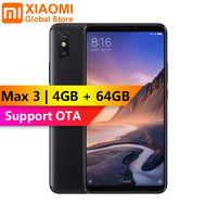Xiaomi Mi Max 3 4GB 64GB Snapdragon 636 Octa Core pantalla grande 5500mAh fácil de usar con una sola mano Teléfono Móvil Inteligente Max3