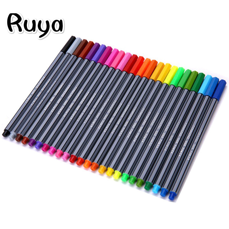 Stabilo 24 Colors Sketch School Office Water Brush Pen Drawing Stationery Smooth Art Supplies Copic Markers Highlighters Manga