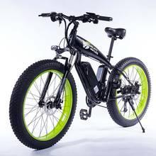 Elektrische Fiets 1000W4.0 Fat Tire Elektrische Fiets Beach Cruiser Fiets Booster Fiets 48V 15AH Lithium Batterij Ebike