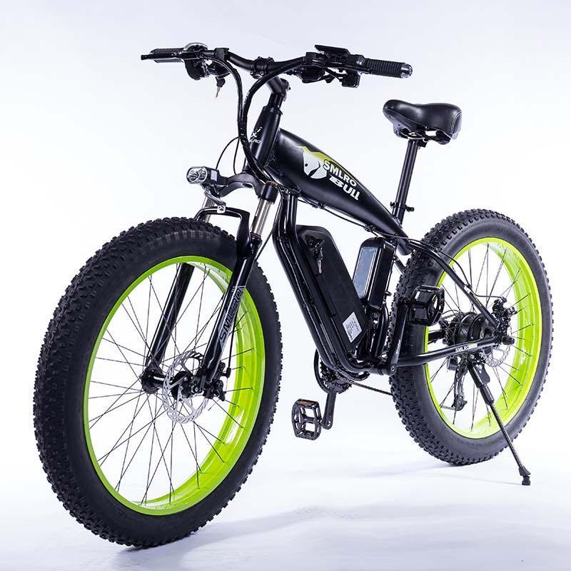 Elektrische bike 1000W 4,0 fett reifen elektrische fahrrad beach cruiser bike Booster fahrrad klapp 48v 15AH lithium-batterie ebike