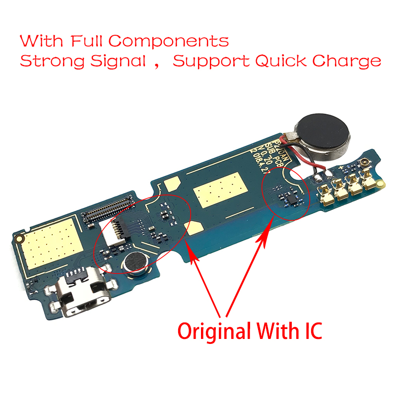 New For Wiko View 2 GO USB Charger Board Charging Dock Port Connector Flex Cable