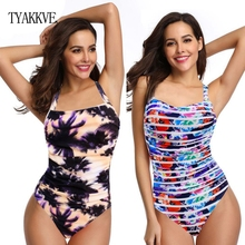 Women Swimwear Plus Size One Piece 2019 Swimsuit Print Beach Wear Push Up Bodysuit Swimming Suit Vintage Retro Bathing Suit XXXL