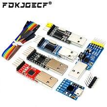 Cp2102 micro usb 2.0 para uart ttl 5pin conector módulo serial conversor stc substituir ft232 usb para ttl ch340g pl2303 para arduino