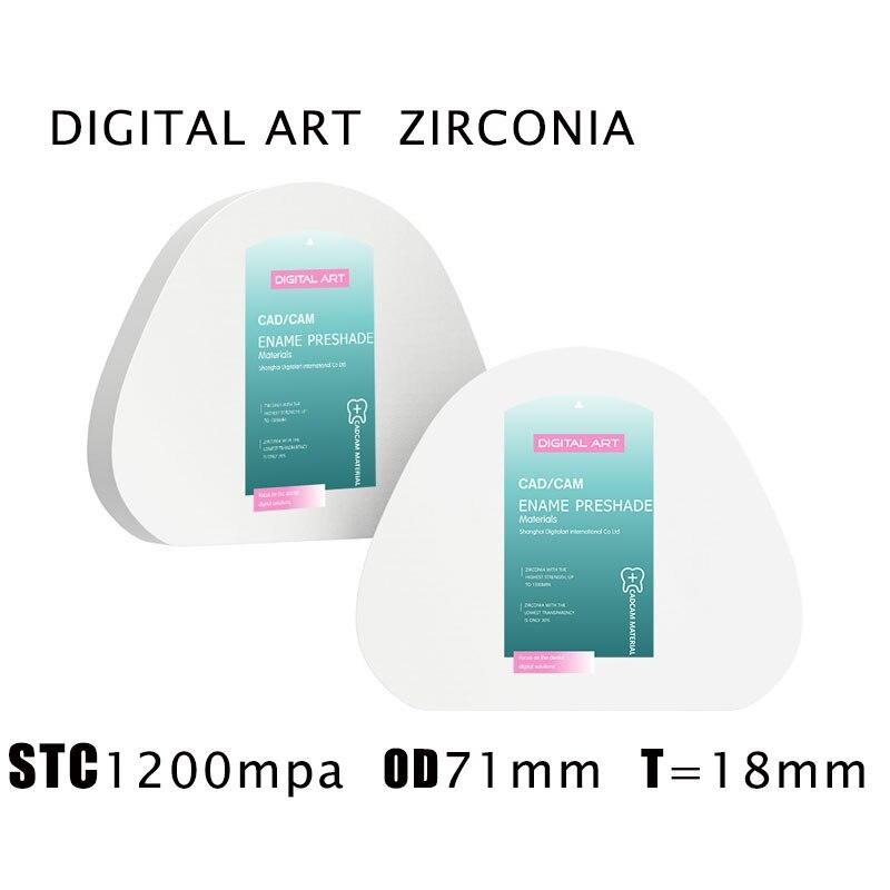 digitalart amann girrbach zirconia em branco dental cad cam fresadora stcag71mm18mma1 d4