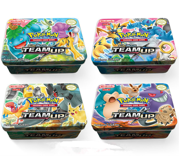 42 stks /set Pokemon cards  Iron Box TAKARA TOMY Battle Games Hobby Hobby Collectibles Game Collection Anime Cards for Children 1