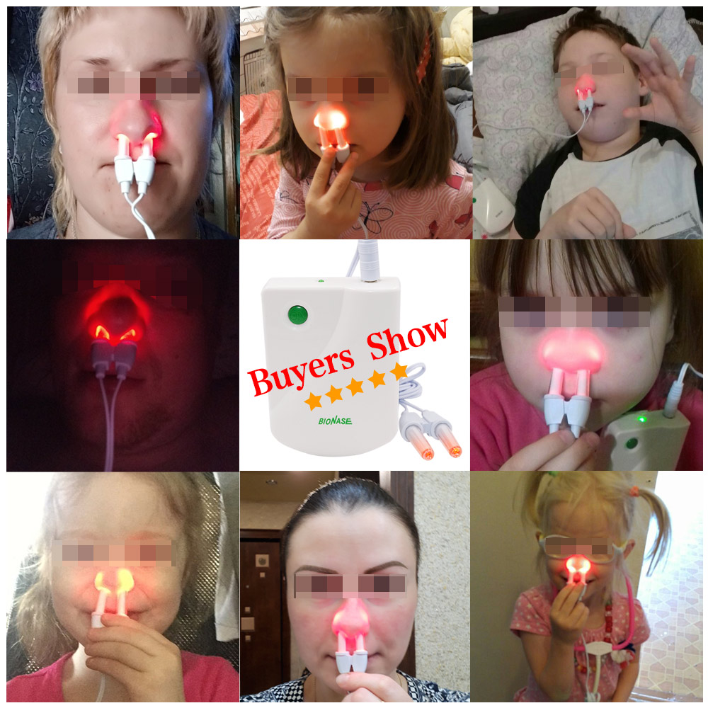 Image 2 - BioNase Nose Rhinitis Sinusitis Cure Therapy Nose Massage Hay fever Low Frequency Pulse Laser Runny sneeze treatment Machine-in Massage & Relaxation from Beauty & Health