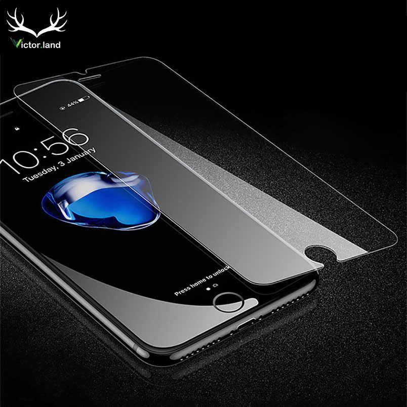 Untuk iPhone 11 Pro Max XS XR X 8 10 4 4 S 5 5 S 5 5C 6 6 S 7 7 S Plus Tempered Glass 9H Kaca Film Pelindung Layar Case Guard