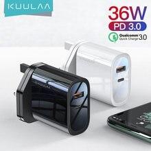 Сетевое зарядное устройство kuulaa 36 Вт 4 порта usb type c