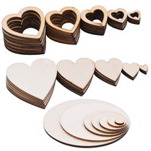 10 100 мм Пустые необработанные круглые деревянные ломтики диски