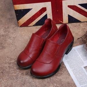 Image 5 - GKTINOO אביב סתיו אופנה מוקסינים 100% עור אמיתי יחיד נעלי רך מזדמן שטוח נעלי נשים דירות אמא נעלי 35  40